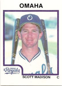 This Omaha Royals baseball card with my name on it is proof that success can come naturally for some